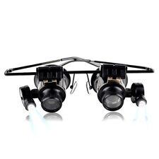 20X Lupe Brille Lupenbrille LED Lampe Vergrößerungsglas Lupen Uhrmacher Juwelier