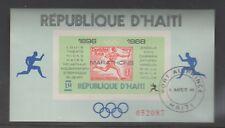 HAITI 1969 WINNERS OF OLYMPIC MARATHON MINIATURE SHEET WITH POSTMARK