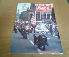 BMF MOTORCYCLE RIDER JOURNAL sept 92 GL1000 GOLDWING  CX500 FIM RALLY