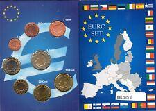 EURO  BELGIQUE  SERIE COMPLETE 1C A  2E NEUVE