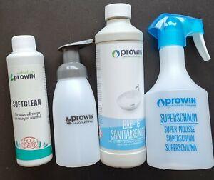 Prowin BADSET, Bad- und Sanitärreiniger + Softclean + Superschaumflasche