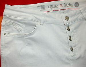 S.OLIVER SMART STRAIGHT Stretch Jeans Hose Größe 42 L30 Bund 44-49cm-wie NEU!