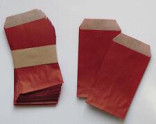 lot de 25 pochettes /sachets kraft 60gr rouge 7x12cm de fabrication française
