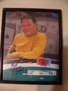 """Vintage MEN """"THE MASTER"""" NGUYEN World Poker Tour Signed 8x10 photo"""
