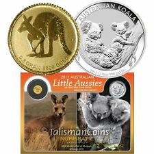 Australia 2011 Little Aussies ANA Mini Gold Roo Kangaroo Silver Koala Set Perth