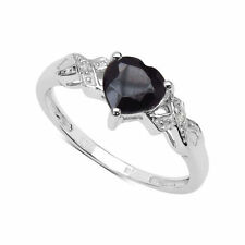 White Gold Sapphire Accents Engagement Fine Rings
