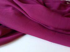"NEW Designer Magenta Colour Silk Touch Silky Chiffon Fabric 57""146cm Dress Craft"