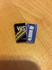 nostalgia Pin metal alloy enamel Vhs tape retro Vcr 1980s