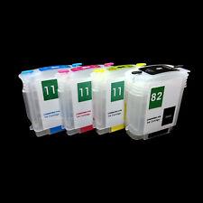 Rellenable Relleno Fill in CISS Cartuchos para HP 82 11xl DESIGNJET 111