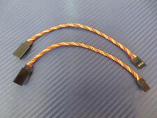 2 Pcs servoverlängerung Twisted for JR Graupner 15cm 3x0,34mm ² Servo Cable