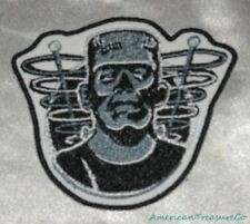 Embroidered Retro Halloween Frankenstein B&W Movie Monster Horror Patch Iron On