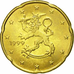 [#581294] Finlande, 20 Euro Cent, 1999, FDC, Laiton, KM:102