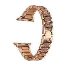 Apple Watch Band Alloy Crystal Rhinestone Diamon Bracelet Luxury 38mm Rose Gold