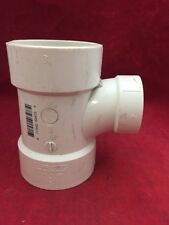 """One New Plastic Pipe Fitting (2) 3"""" (1) 2"""" WYE Tee 6.25"""" Long White PVC"""