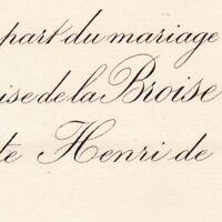 Louise Emilie De La Broise Brée Montsurs Mayenne 1887 Henri De Marcé
