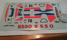 decals decalcomanie deco pour wm p78 lm le mans 1978  1/43