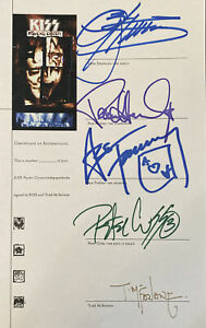 Kiss Signed Comic Book Ace Peter Simmons Stanley Autographed McFarlane Psycho C.