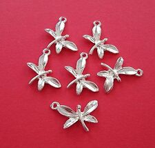 10- Silver Plated Butterfly Charm Pendant Jewelry Making Finding Supply.