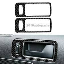 Carbon Fiber Car Door Handle Panel Frame Cover Fit For Ford Mustang 2009-2013
