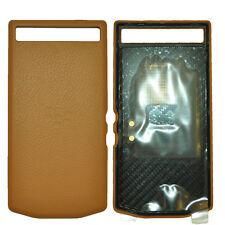 New Porsche Design Leather Battery Door Cover Cognac for Blackberry P'9982