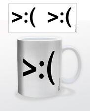 EMOTICON ANGRY 11 OZ COFFEE MUG TEA CUP EMOJI SMILEY KEYBOARD MAC COMPUTER TECH!