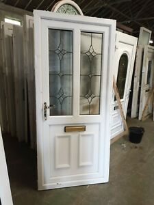 Used White Upvc Front Door 920 X 2050 (0075)