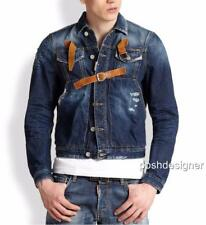 DSQUARED 2 Giacca di Jeans in pelle IT48 NUOVO DSQUARED