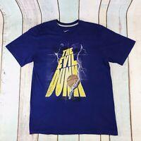 NIKE THE EVIL DUNK Graphic Print Men's Men T-Shirt Tee Shirt L Large Purple
