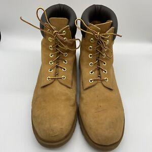 "Timberland Men 6"" Inch Waterproof WORK BOOTS 18094 Size 14 M Wheat"