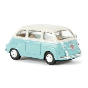 BREKINA 22471 Fiat 600 Multipla, Ep.iii, Couleur Céleste Clair Toit Blanc