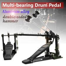 Aluminum Alloy Pro Double Bass Drum Pedal Twin Kick Chain Drive Percussion US