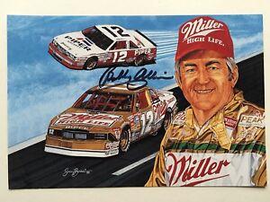 "NASCAR Bobby Allison signed 8"" X 6"" photo Card"