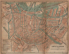 AMSTERDAM antique town city stadsplan. Netherlands kaart. BAEDEKER 1905 map