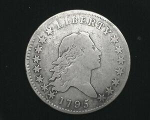 HS&C: 1795 Flowing Hair Half Dollar VG+ Nice even coin. - US Coin