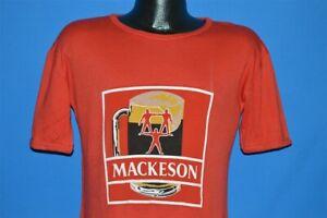vintage 80s MACKESON RED STOUT BEER LABEL LOGO ENGLISH 50/50 t-shirt MEDIUM M