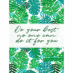 Motivational Do Your Best Jungle Green Typography Large Canvas Wall Art Print