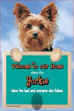 Scottish Collectables Yorkie 3D Lead Hanger Wall Plaque