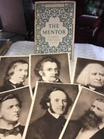 THE MENTOR November 24th-1913 Famous Composers #41 Plus 6 Photo Cards