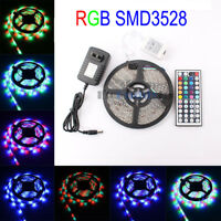 16.4FT SMD3528 300LED RGB Changing Color LED Light Strip Full Kit Waterproof 12V