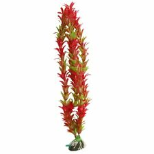 "Aquarium Red Green Artificial Aquatic Plant Ornament 15"" B2X4 O0V0"
