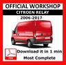 OFFICIAL WORKSHOP Manual Service Repair Citroen Relay 2006 - 2017
