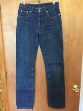 Helmut Lang Classic Denim Italian Cut Raw Jeans Button Fly - Sz 28 Made in Italy