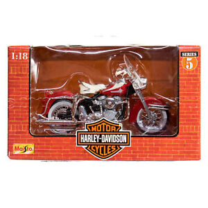 NEW 1998: Maisto Harley-Davidson #5 of 6, 1962 5D FLH DUO GLIDE 1:18 MOTORCYCLE