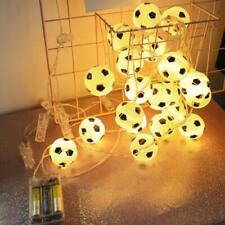 10//20LED Fußball Lichterkette Silber Warmweiß dekorative Kugelkette Batterie Neu
