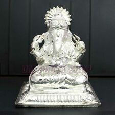 God Ganpati Pure Silver Exclusive Ganesha Bhagawan Murti Statue Idol OmPoojaShop