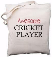 Awesome Cricket Player - Natural Cotton Shoulder Bag - Gift