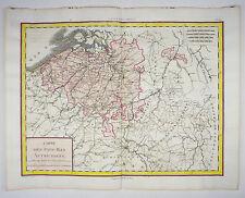 BELGIEN BENELUX BRÜSSEL LUXEMBURG KOL KUPFERSTICH KARTE MENTELLE 1788 AD #D920S