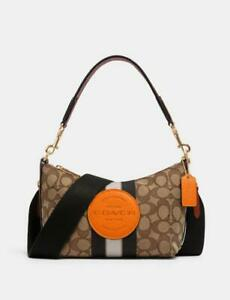 nwt coach Dempsey Shoulder Bag In Signature Jacquard With Stripe And Patch