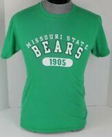 MISSOURI STATE UNIVERSITY BEARS MO  NCAA GREEN T-SHIRT MENS SIZE SMALL S JERZEES