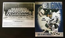 2003-2004 University Of Connecticut Ucon Huskies Men's Hockey Media Guide & Pic